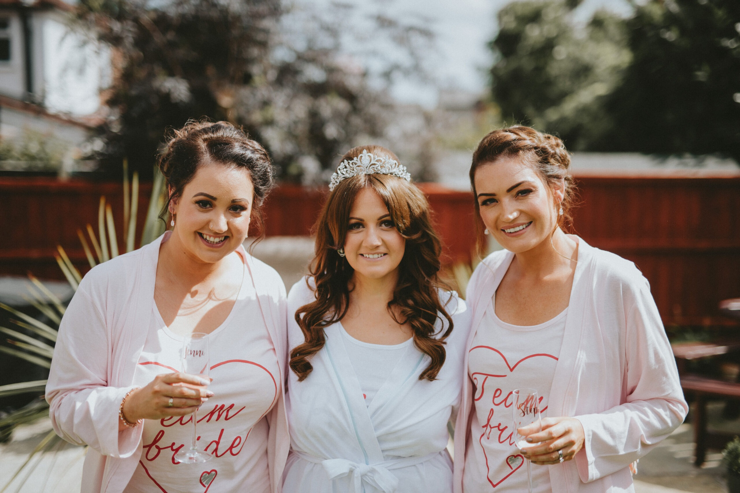 Bride and bridesmaids in Liverpool
