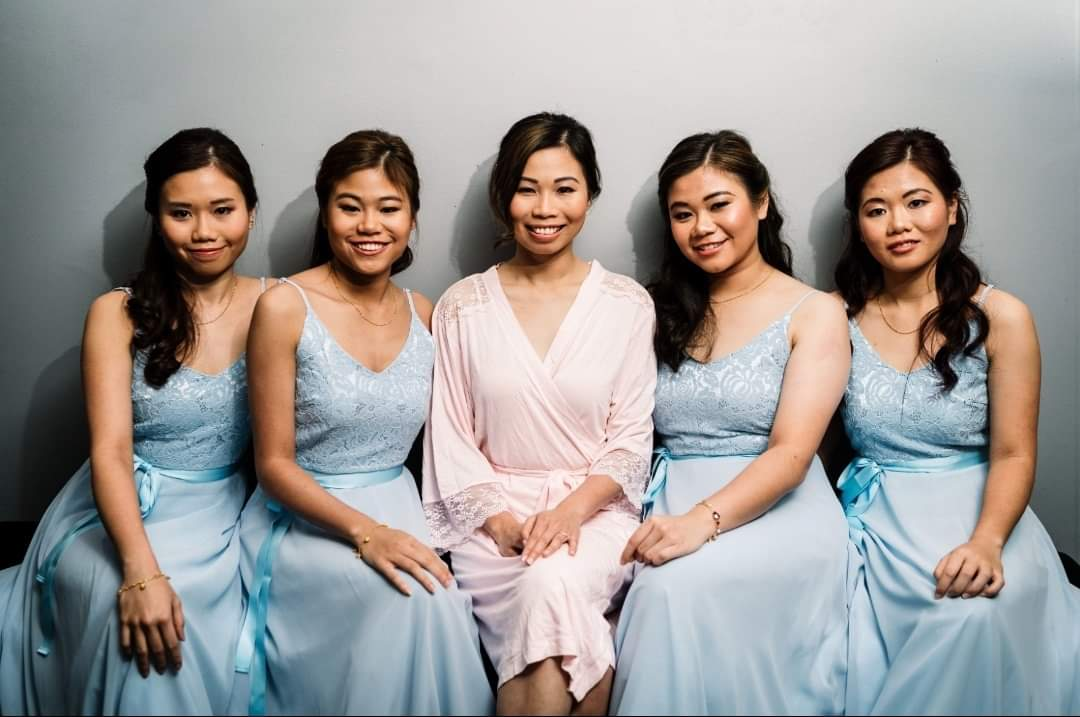 bride and bridesmaids at the Malmaison hotel in Liverpool