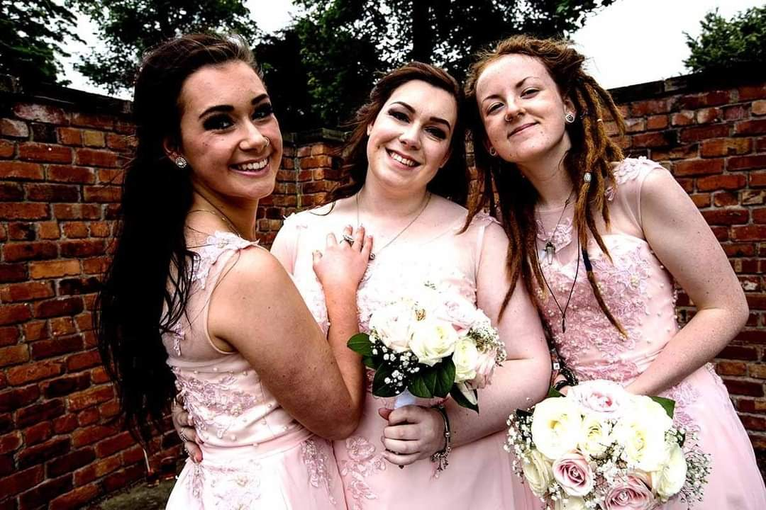 bridesmaids at a wedding in Liverpool