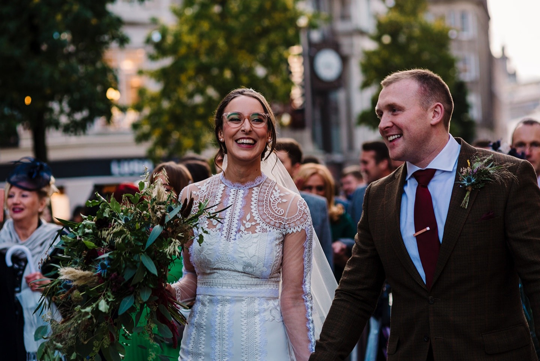 BRide and Groom Liverpool City Centre wedding