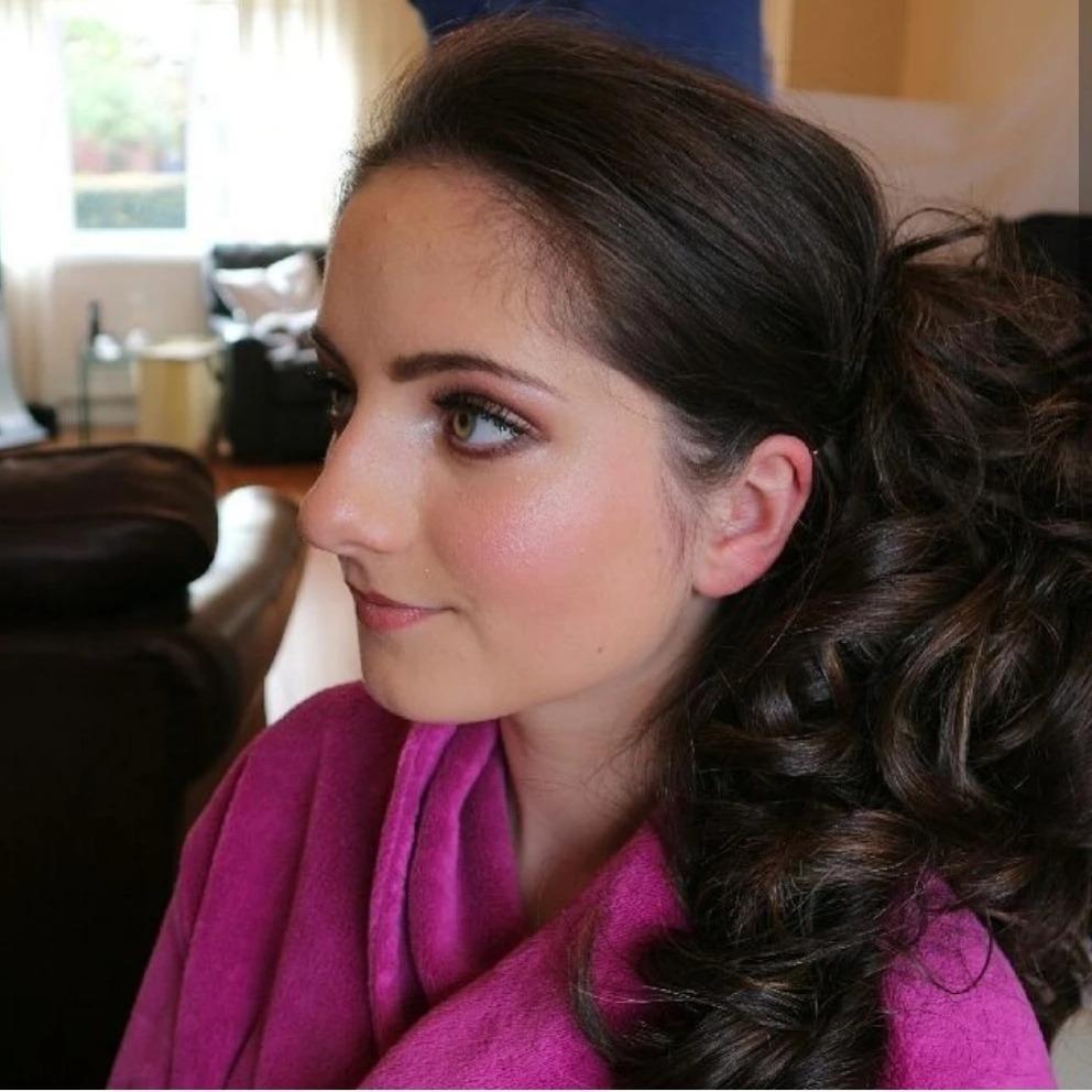 Bridesmaid hair and makeup by Glamorama Liverpool