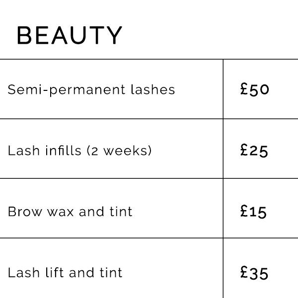 mobile hair and makeup artists Liverpool price list