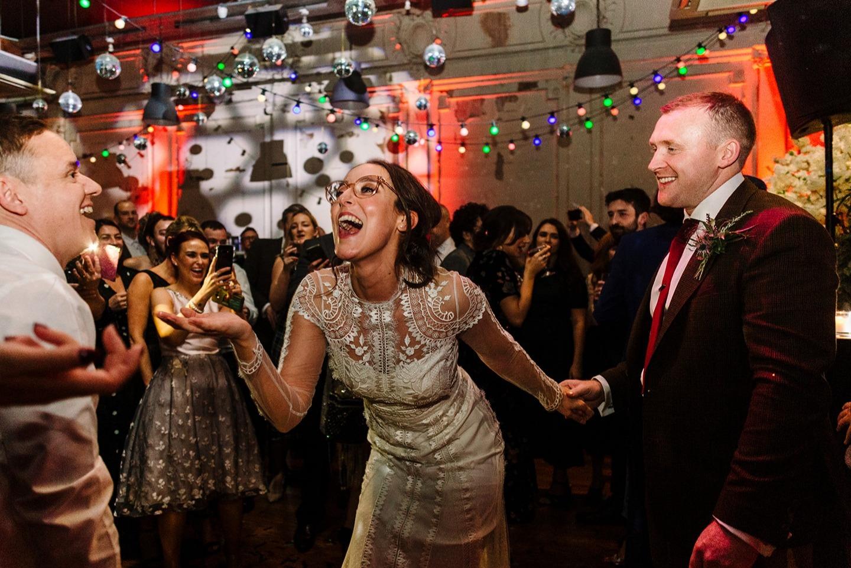liverpool wedding at leaf bold street bride and groom dancing
