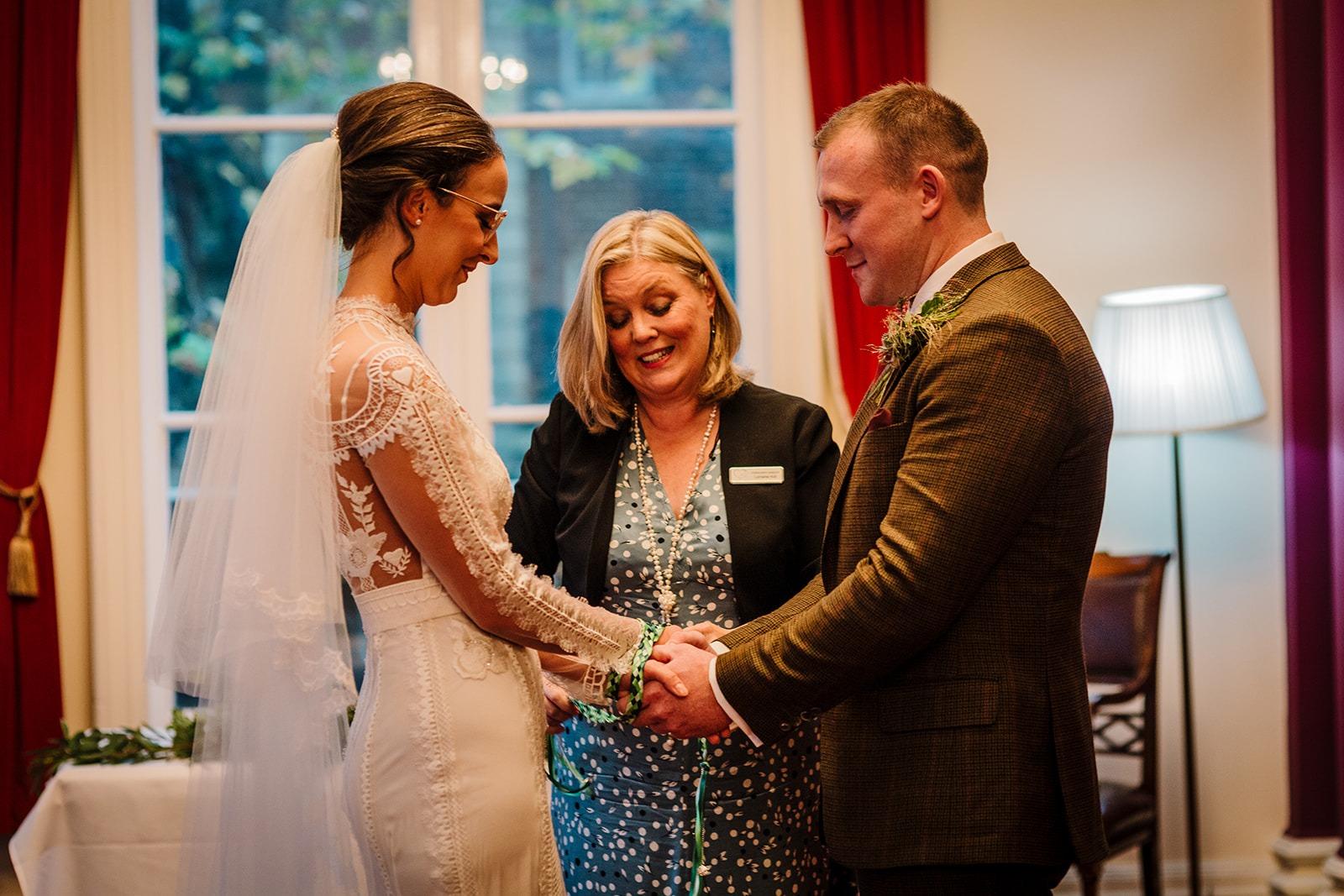 liverpool wedding ceremony bride and groom and Liverpool celebrant Lorraine Hull