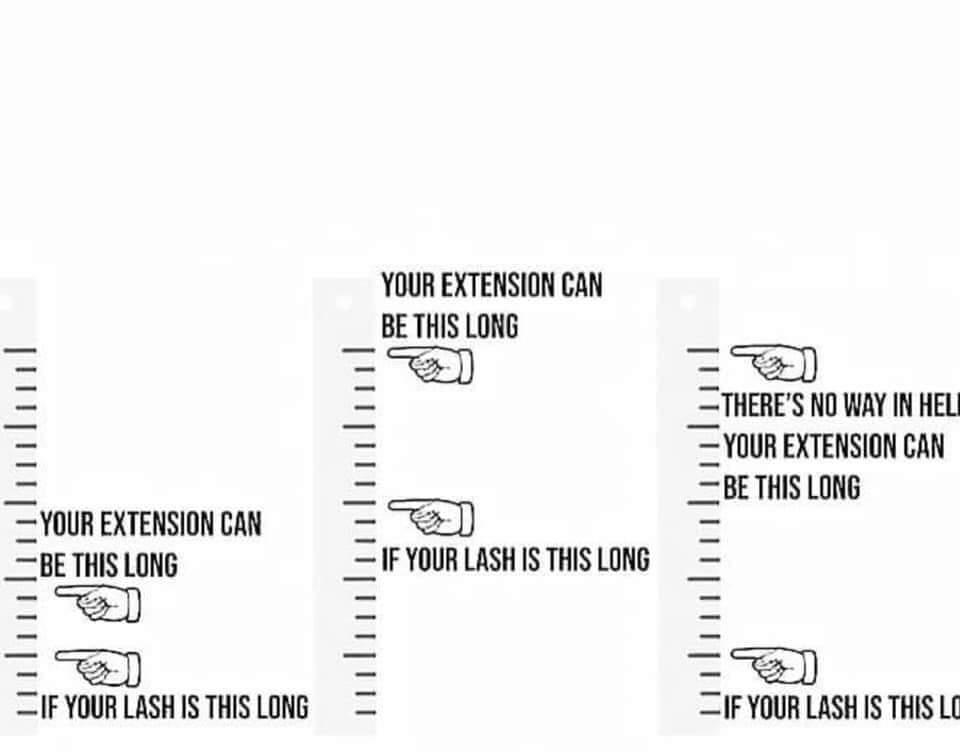 eyelash extension length guide