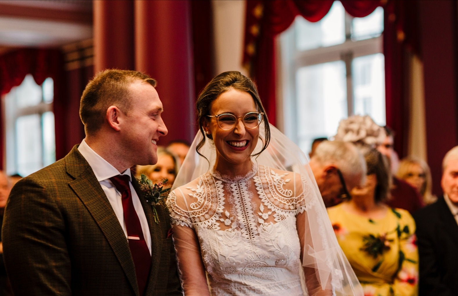 bridal hair and makeup in Liverpool wedding bride and groom