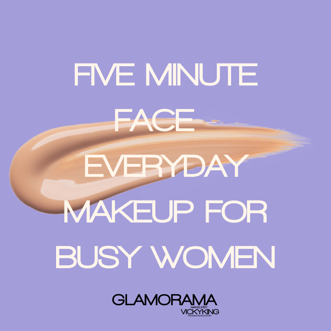 Five minute makeup for busy women