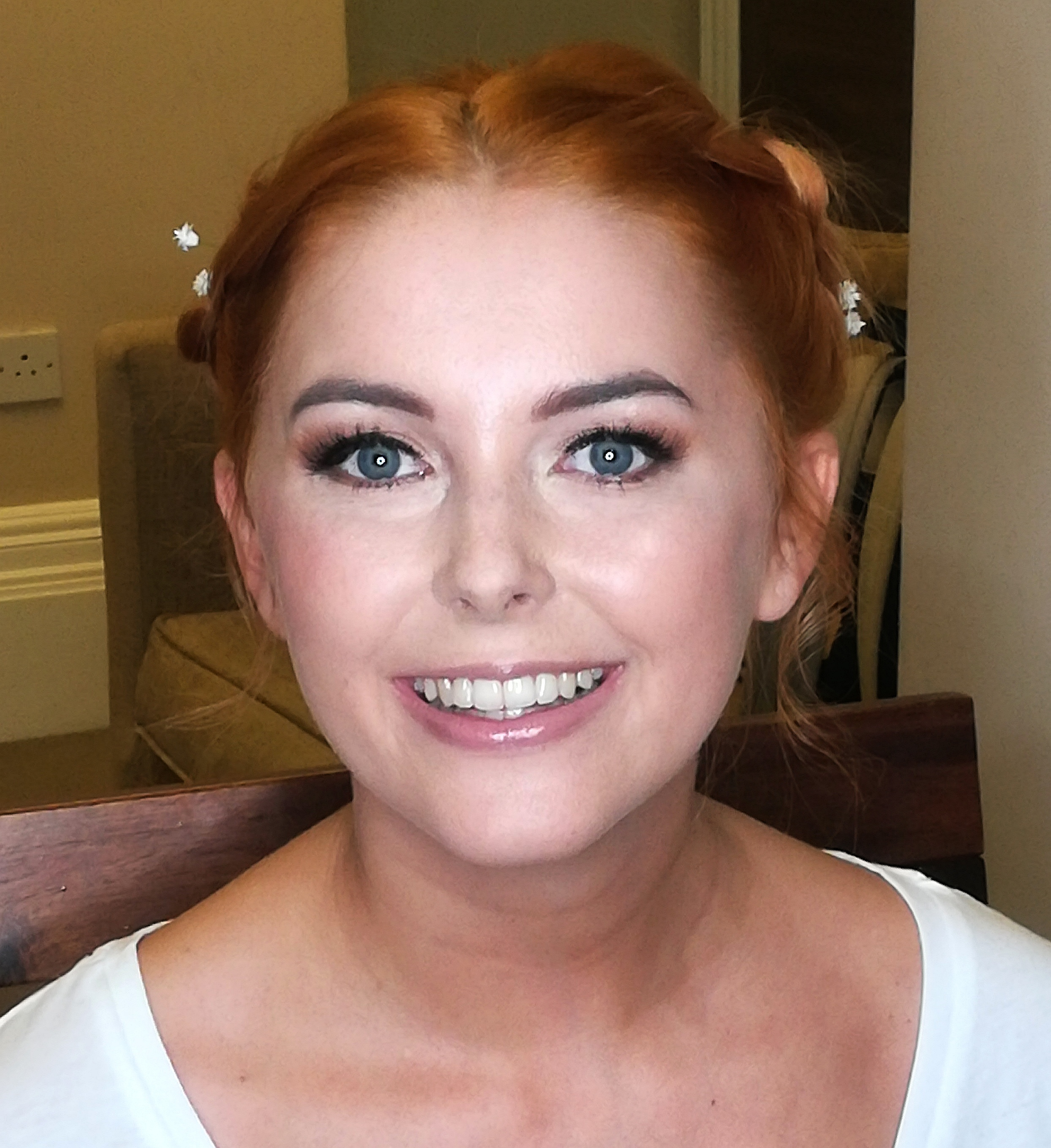 Natural Bridal Makeup in Liverpool Wedding Venue The Richmond Hotel