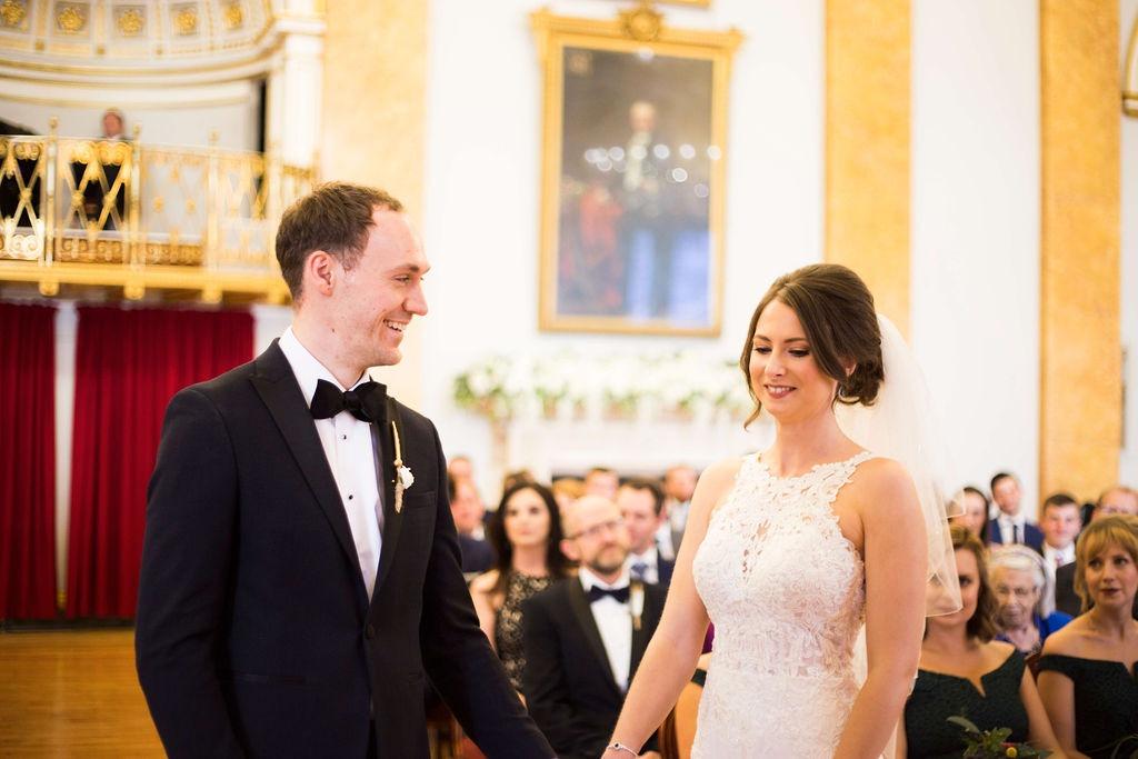 Liverpool Town Hall Wedding bride and groom