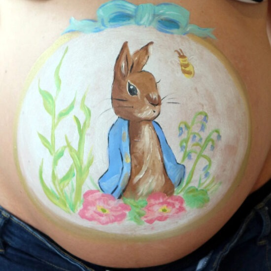 baby bump painting Liverpool