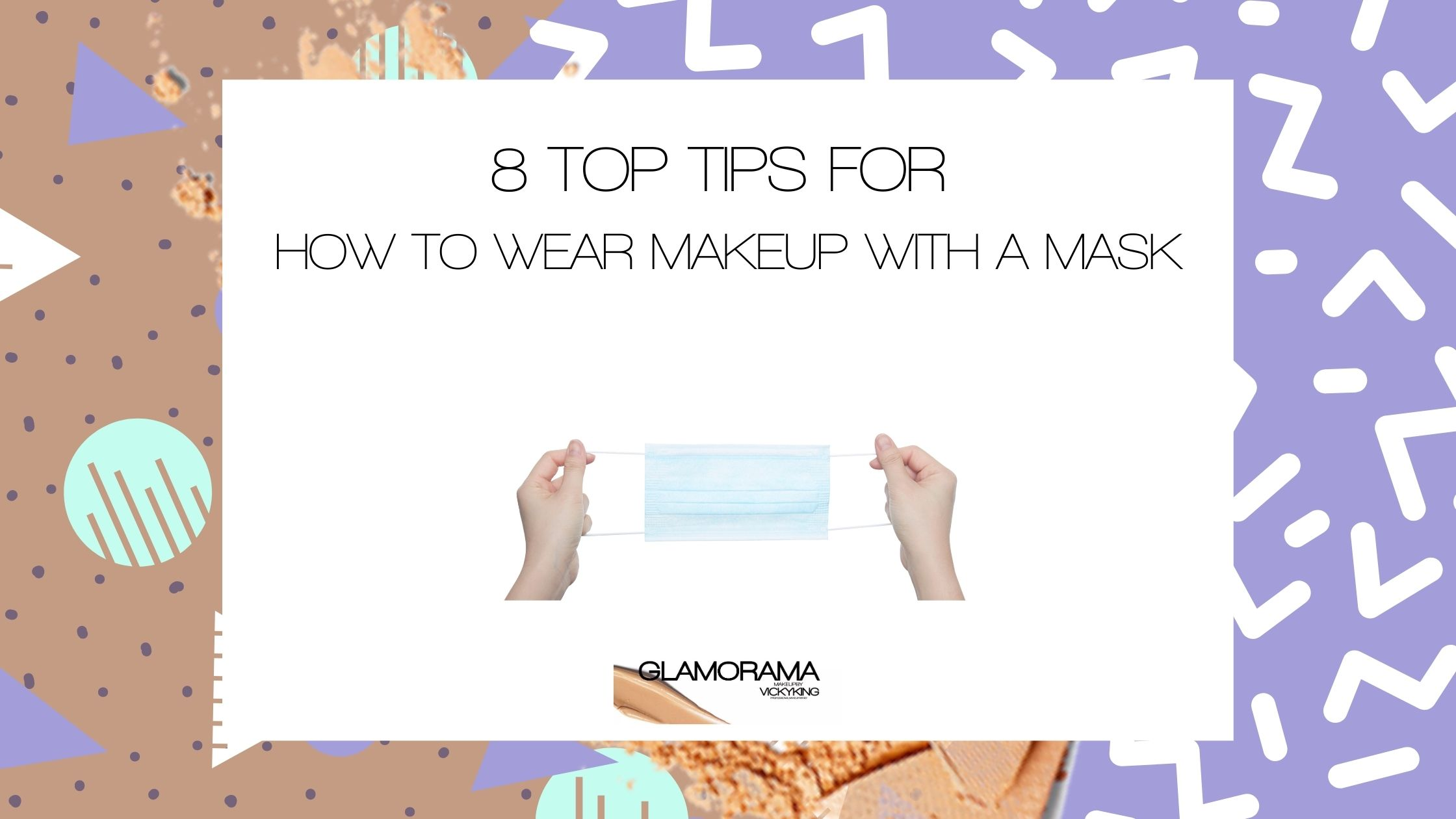 how to wear makeup with a mask
